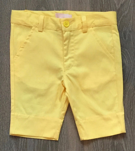 Charm Child Boys Yellow Shorts