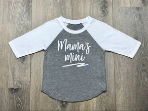 Nicky and Stella Mama's Mini Baby and Kids Raglan