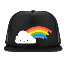Load image into Gallery viewer, Whistle and Flute Rainbow Trucker Hat
