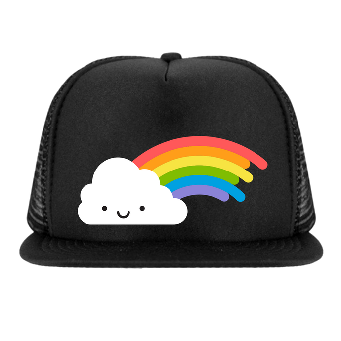 Whistle and Flute Rainbow Trucker Hat