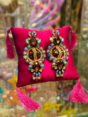 Spectacular Oversized Statement Earrings (Multi-Colour)
