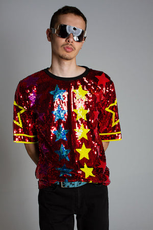 Star Gazer Tee Red