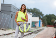 Load image into Gallery viewer, GLO girl bag- Grey/Neon Yellow