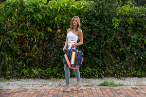 GLO girl bag - Navy/Neon Orange