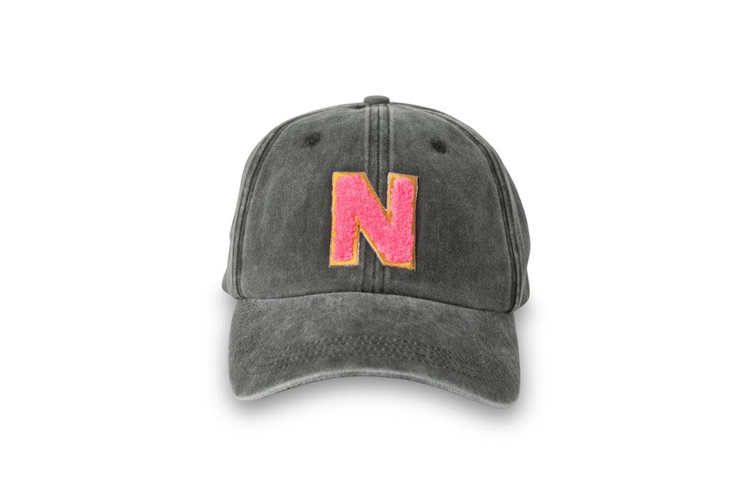 Initial Hat - Washed Black/Neon Pink (PRE-SALE)