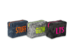GLO girl pouch, Personalize Me!- Grey/Neon Yellow