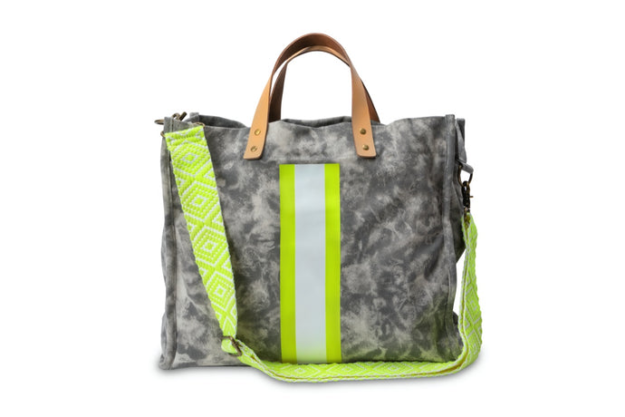 GLO girl bag- Grey/Neon Yellow (PRE-SALE)