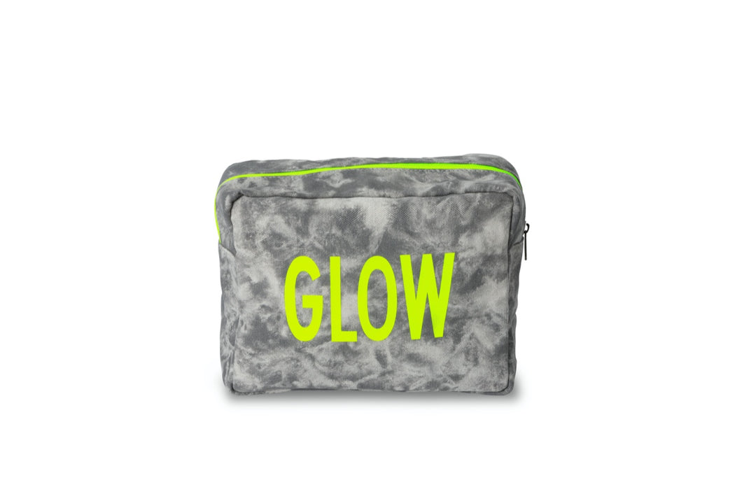 GLO girl pouch, Personalize Me!- Grey/Neon Yellow (PRE-SALE)