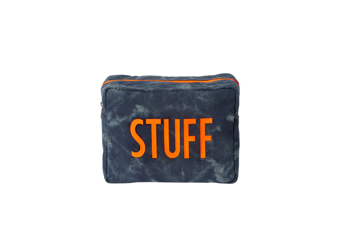 GLO girl pouch, Personalize Me! - Navy/Neon Orange (PRE-SALE)