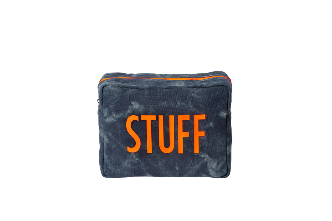 GLO girl pouch, Personalize Me! - Navy/Neon Orange