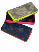 Load image into Gallery viewer, GLO girl wallet- Navy/Neon Orange (PRE-SALE)