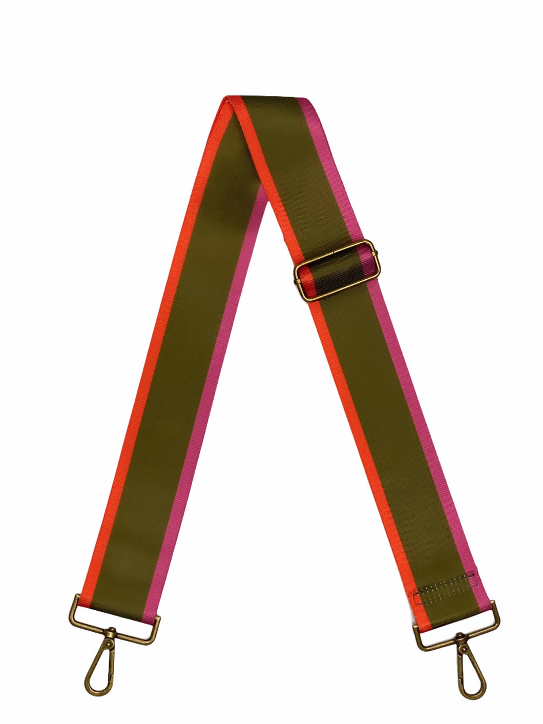 Crossbody Bag Strap - Army Green, Pink, Bright Orange