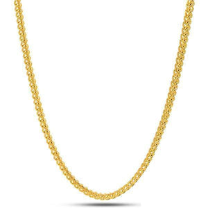 2.5mm 14K Gold Stainless Steel Franco Chain - Jewelries-World