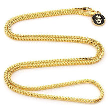 Load image into Gallery viewer, 2.5mm 14K Gold Stainless Steel Franco Chain - Jewelries-World