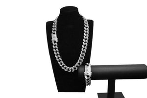 24K Gold/White Gold Cuban Chain - Jewelries-World