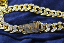 Load image into Gallery viewer, 24K Gold/White Gold Cuban Chain - Jewelries-World