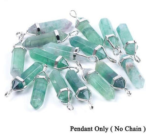 Natural Gemstone Pendant Necklace - Jewelries-World