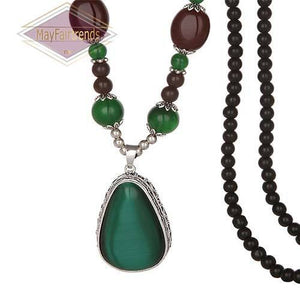 Statement Beaded Droplet Necklaces - Jewelries-World