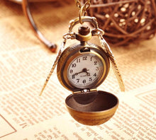 Load image into Gallery viewer, Pocket Watch Snitch Necklace - Jewelries-World