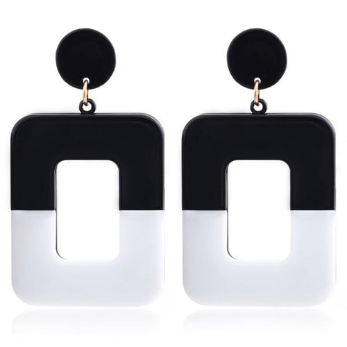 Drop Color Block Earrings - Jewelries-World
