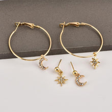 Load image into Gallery viewer, New Fashion Crystal Stars Earrings - Jewelries-World