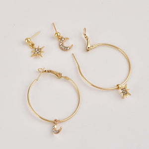 New Fashion Crystal Stars Earrings - Jewelries-World