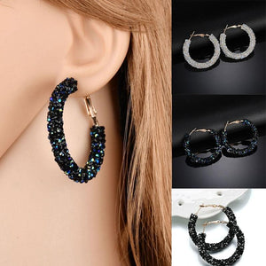 Bling Bling Hoop Earrings - Jewelries-World