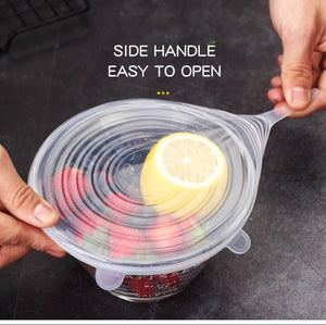 Silicone Stretch Lids Storage Containers 6 Pcs/ Set - OrbitSuperDeals