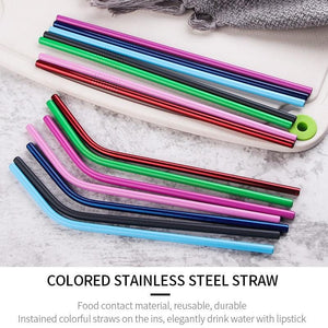 Reusable Drinking Straws Stainless Steel - OrbitSuperDeals