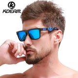 KDEAM Brand Design Polarized Sunglasses Men Driver Shades Male Vintage Sun Glasses For Men Spuare Mirror UV400 Oculos With Box - ShopyMart