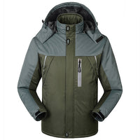 Men Winter Warm Hooded Parka Jacket