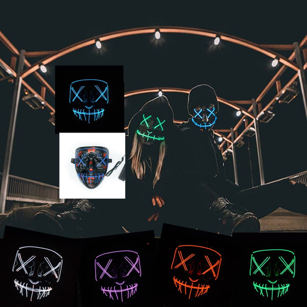 Neon Mask Halloween Masks LED Party Maske
