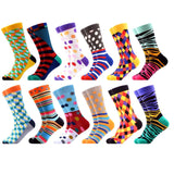 SANZETTI 12 Pairs/Lot 2019 Newest Winter Warm Colorful Men's Combed Cotton Socks Novelty Dress Casual Crew Happy Wedding Socks