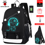 Back to School Backpack Student Luminous Animation USB Charge Changeover