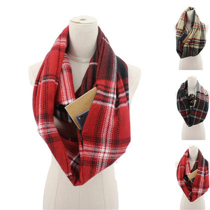 Fashion Winter Scarf With Pocket
