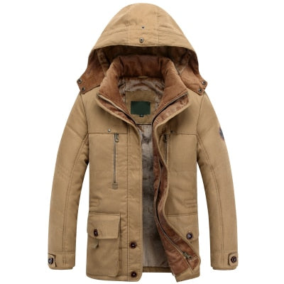 MIACAWOR -40 Degree Warm Winter Jacket Men High Quality Hooded Thicken Parka Men Cotton Outwear Wool Liner Casual Men Coats J521