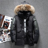 -40 C Winter Fur Hooded Duck Down Men Jacket