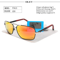 OLEY Brand Polarized Sunglasses Men New Fashion Eyes Protect Sun Glasses With Accessories Unisex driving goggles oculos de sol - ShopyMart