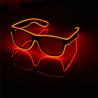 Flashing Glasses EL Wire LED Glasses Glowing Party Supplies Lighting Novelty Gift Bright Light Festival Party Glow Sunglasses - ShopyMart