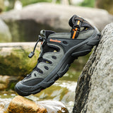 Summer Men Outdoor Sneakers Breathable Hiking Shoes Men Women Outdoor Hiking Sandals Men Trekking Trail Water Sandals Big Size - ShopyMart