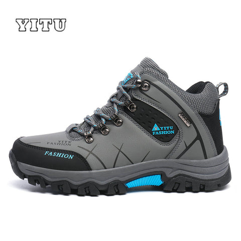 Plus Size 39-45 46 47 Brand Hiking Shoes Men Spring Hiking Boots Mountain Climbing Shoes Outdoor Sport Shoes Trekking Sneakers - ShopyMart