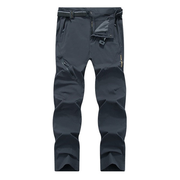 Mountainskin 8XL Men's Summer Quick Dry Softshell Pants Outdoor Elastic Camping Hiking Trekking Fishing Climbing Trousers MA138 - ShopyMart