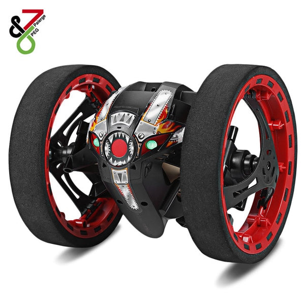 New RC Car Bounce Car Remote Control Toys RC Robot 80cm High Jumping Car Radio Controlled Cars Machine LED Night Toys Kids Gifts - ShopyMart