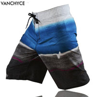 VANCHYCE  Summer Shorts Men Board Shorts Brand Swimwear Men Beach Shorts Men Bermuda Short Quick Dry Silver Men's Boardshorts - ShopyMart