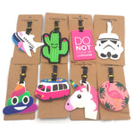 Travel Accessories Star Wars Luggage Tags Animal Cartoon Silica Gel Suitcase ID Addres Holder Baggage Boarding Portable Label - ShopyMart