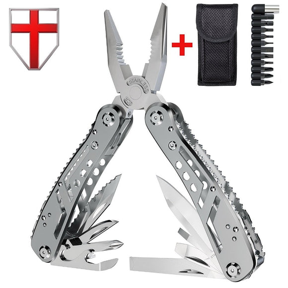 EDC Multitool with Mini Tools Knife Pliers Swiss Army Knife and Multi-tool kit for outdoor camping equipment - ShopyMart