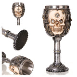 Horrible Resin Stainless Steel Skull Goblet Retro Claw Wine Glass Gothic Cocktail Glasses Wolf Whiskey Cup Party Bar Drinkware