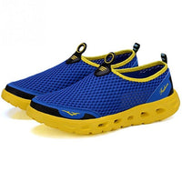 Men Outdoor Flats Sneakers Breathable Mesh Slip On Water Shoes Walking Sandals - ShopyMart