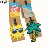 eTya Luggage Tag Silicone Cartoon Cute Fruits Food Beach Style Suitcase Tags Name Address Holder Baggage Boarding Tags Label - ShopyMart