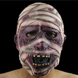 Adult Ghost  Scary Mummy Mask Haloween Face